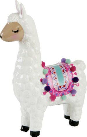 Spardose Lama - Sparbüchse Keramik - Dekoration Geldgeschenk