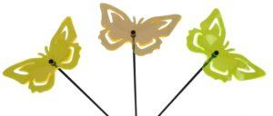 Gartenstecker Schmetterling Sonnenfaenger Acyrl LichtSpiel UV Strahlen gelaeserte Leutchtobjekte Gute Laune Garten Windspiel Blumenstecker Ostern 525630