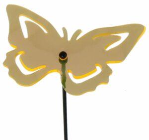 fluoreszierende Gartenstecker Schmetterling Sonnenfänger - Lichtspiel Lichtfänger, Acryl