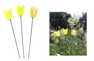 Gartenstecker Tulpe Sonnenfänger 65cm - Lichtspiel Lichtfänger, Acryl