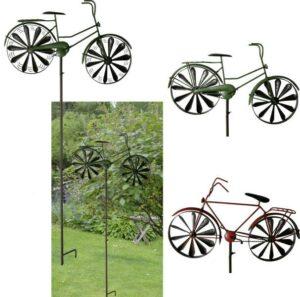 Windrad Gartenstecker nostaligisch Damenrad und Herrenrad
