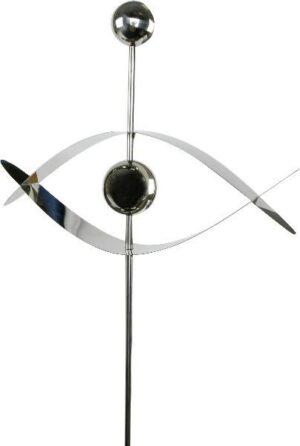 Metallstecker Gartenstecker Auge - Edelstahlstehle mit Edelstahlkugeln