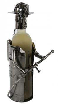 Flaschenhalter Feuerwehr aus Metall - Feuerwehrmann