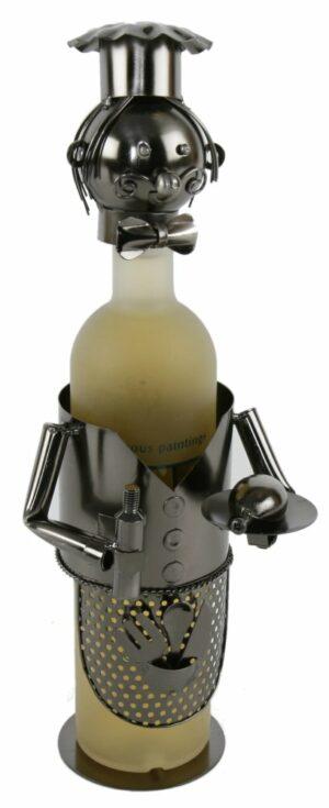 Flaschenhalter Kellner - Metall Weinflaschenhalter Skulptur Kellnerin, Servierer