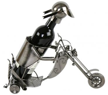 flaschenhalter motorrad aus metall motorradfahrer biker. Black Bedroom Furniture Sets. Home Design Ideas