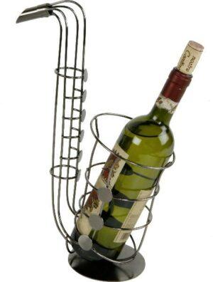 Skulptur Saxophon Flaschenhalter Metall - Musikinstrument Saxofon Skulptur