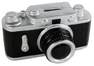 Spardose Kamera im Retro-Look - Sparschwein Fotoapparat