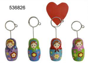 Visitenkartenhalter Babuschka Clip aus Keramik - Kartenhalter, Fotohalter, Notizhalter