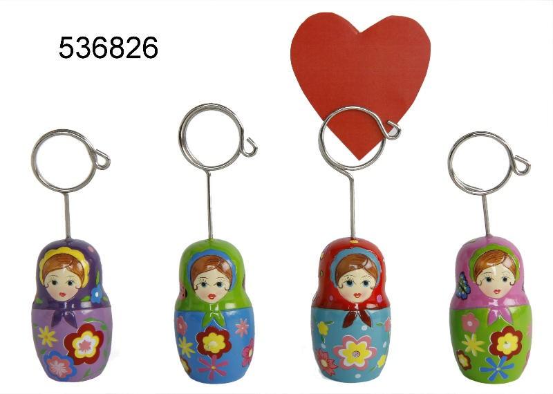 Visitenkartenhalter Babuschka Clip Aus Keramik Kartenhalter Fotohalter Notizhalter