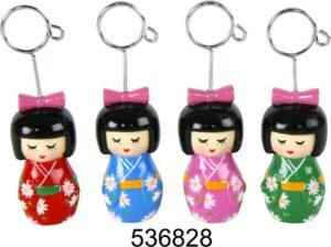 Visitenkartenhalter Japan Girl Clip aus Keramik - Kartenhalter, Fotohalter, Notizhalter