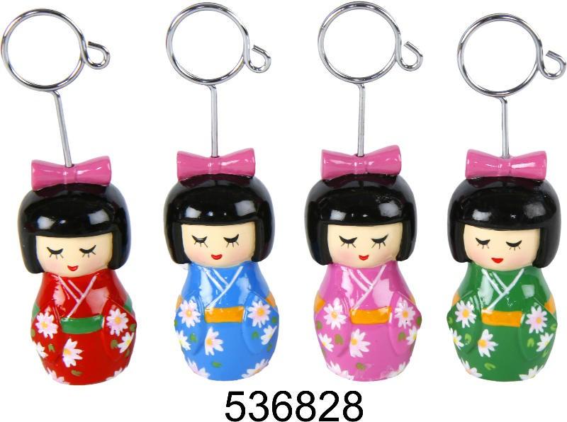 Visitenkartenhalter Japan Girl Clip Aus Keramik Kartenhalter Fotohalter Notizhalter