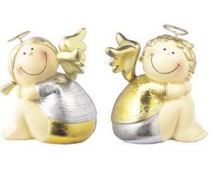 Mila Engelpaar Engelchen und Bengelchen Schutzengel Dekofigur 22 cm aus Resin Engel & Bengel