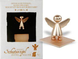 Magnet Schutzengel Parkscheinhalter rosegold, Zettelhalter-Magnethalter-Notizhalter-Fotohalter