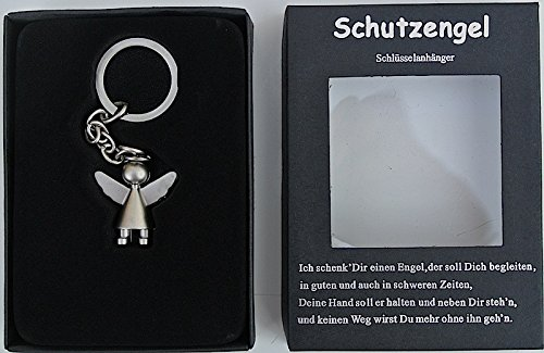 Schlüsselanhänger Schutzengel Begleiter Edelstahl Engel matt//glänzend Geschenk