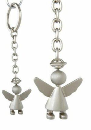 Schutzengel Schlüsselanhänger Engel aus Edelstahl - Schlüsselring Engel in Geschenkbox
