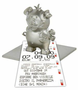 Magnet Schwein Glücksbringer, Auto Parkscheinhalter, Zettelhalter-Magnethalter-Notizhalter-Fotohalter