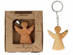 Holz Schutzengel Schlüsselanhänger Engel aus Olivenholz - Holz den Lebens - Wood of Life