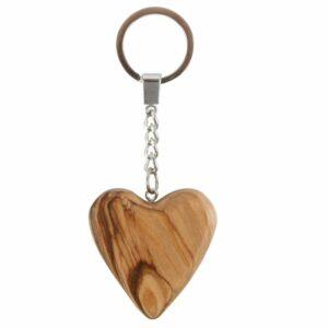 Holz Herz Schlüsselanhänger Olivenholz 541223