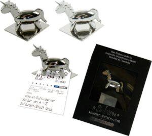 Magnet Einhorn Parkscheinhalter, Zettelhalter-Magnethalter-Notizhalter-Fotohalter Luna