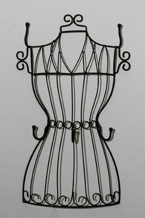 chmuckbüste aus Metall zum hängen - Wandschmuckhalter Schmuckständer