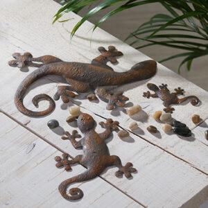 Metall Gecko Deko Salamander Toskana Tischschmuck