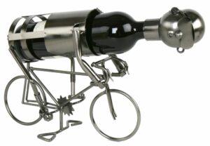 Flaschenhalter Radfahrer aus Metall - Fahrrad - Bahnrad - Keirin - Weinflasachenhalter Skulptur