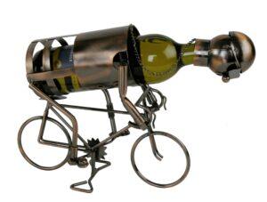 Flaschenhalter Radfahrer aus Metall - Fahrrad Skulptur Rennrad - Bahnrad - Keirin