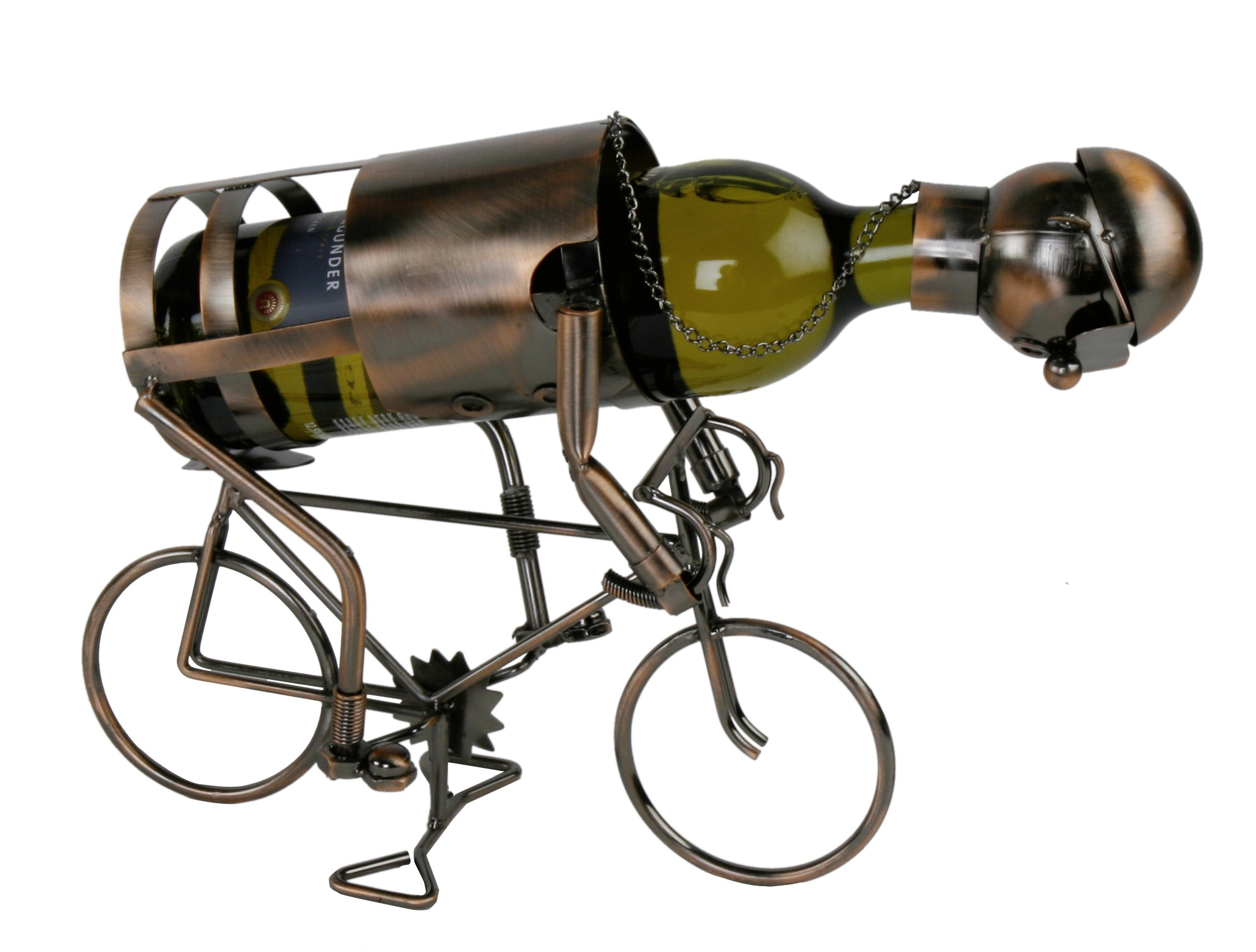 flaschenhalter radfahrer aus metall fahrrad bahnrad. Black Bedroom Furniture Sets. Home Design Ideas