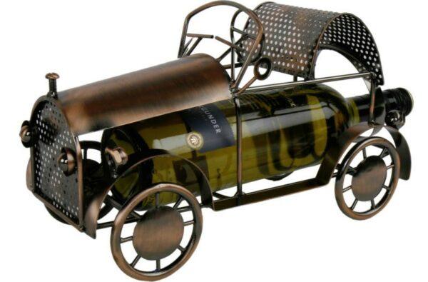 Flaschenhalter Oldtimer Auto Tischdeko Weinflaschenhalter Skulptur aus Metall