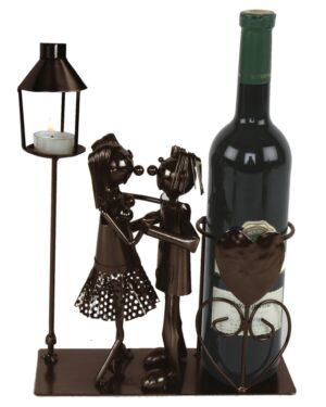 Flaschenhalter Tanz - Tanzpaar mit Teelicht - tanzendes Paar mit Teelichthalter - Weinflaschenhalter Liebespaar
