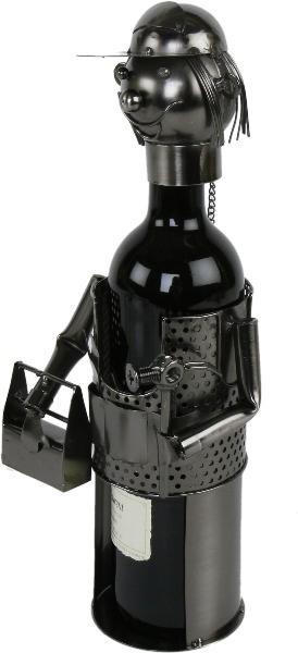 Flaschenhalter Handwerker Skulptur KFZ Schlosser - Klempner - Metall Weinflaschenhalter