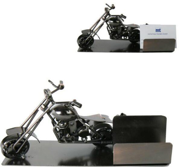 Visitenkartenhalter Motorrad - Harley - Chopper aus Metall