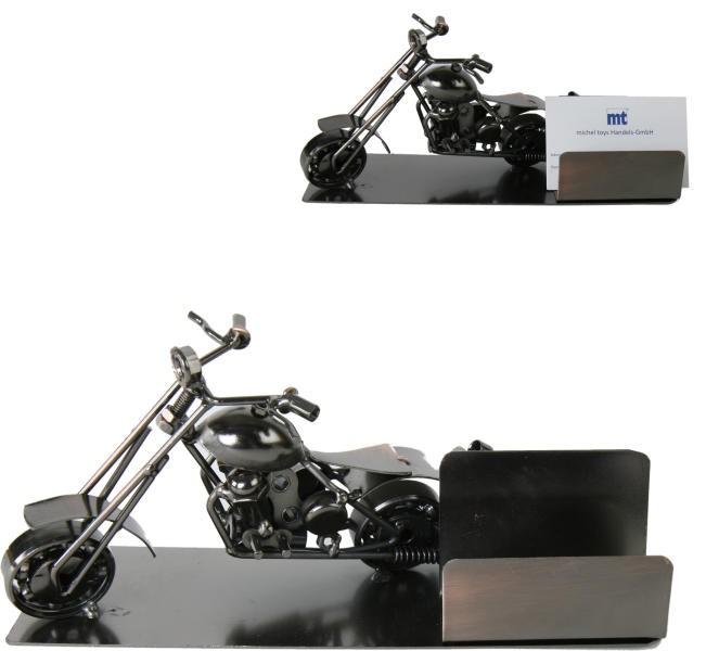 visitenkartenhalter motorrad harley chopper aus metall. Black Bedroom Furniture Sets. Home Design Ideas