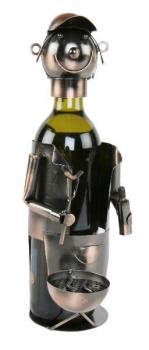 Flaschenhalter Barbecue - Weinflaschenhalter Skulptur Griller aus Metall, kupferfarben - Grillmeister - Barbecuell