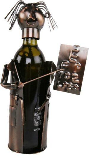 Flaschenhalter Augenarzt Skulptur Optiker Weinflaschenhalter, Metall
