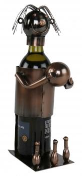 Flaschenhalter Bowling - Kegeln aus Metall / Kupferfarben