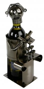 Flaschenhalter Barkeeper Weinflaschenständer Skulptur