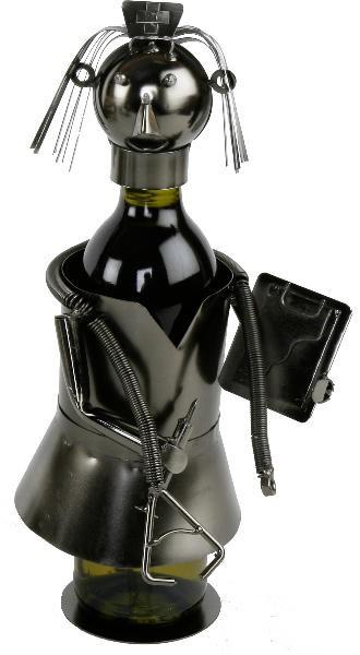 Flaschenhalter Krankenschwester, Weinflaschenhalter Skulptur ...