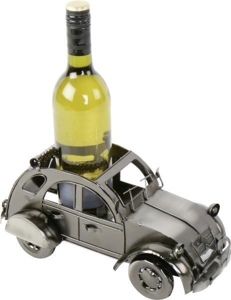 Flaschenhalter Auto Ente 2 CV - Weinflaschenhalter Skulptur Citroen 2CV - Metall
