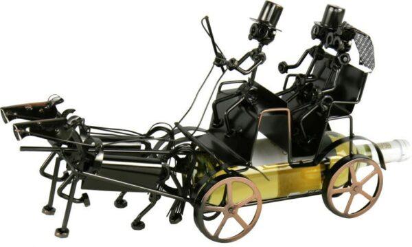 Flaschenhalter Hochzeitskutsche - Pferdekutsche Doppelgespann 2 x Pferde - Hochzeit Reiter