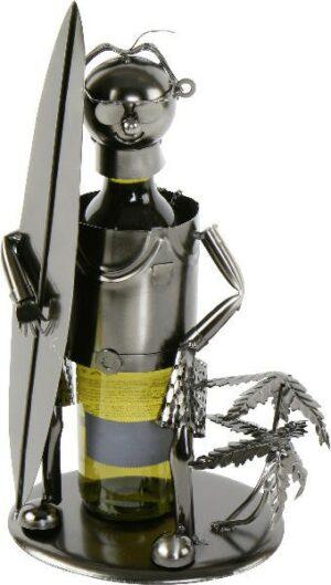 Flaschenhalter Surfer - Metall Weinflaschenhalter Schraubenmännchen Skulptur