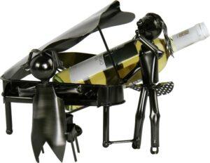 Flaschenhalter Klavier - Piano - Pianist und Sängerin Weinflaschenhalter Skulptur für Musiker