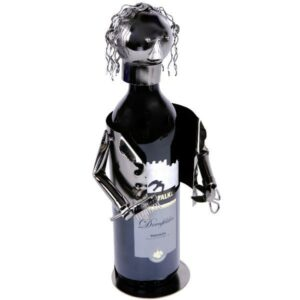Flaschenhalter Barbier Skulptur Friseur - Hairdresser - Frisör Weinflaschenhalter, Metall