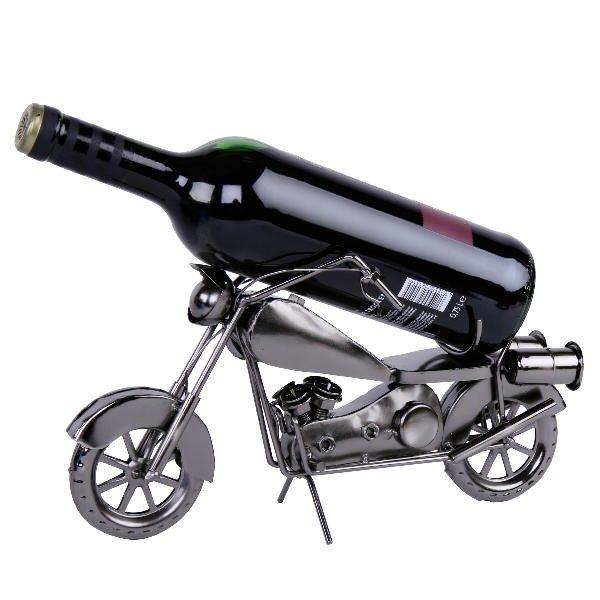 Metall Flaschenhalter Motorrad Skulptur - Flaschenständer Bike