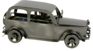 KFZ Flaschenhalter Oldtimer Auto Flaschenständer Skulptur aus Metall