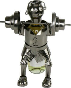 Flaschenhalter Gewichtheber Skulptur Bodybuilding, Metall - Bodybuilder Fitnessstudio