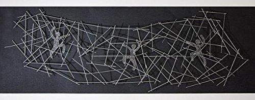 xxl wandobjekt trio 3 kletterer wandkletterer bouldering wandbild aus metall 150 cm. Black Bedroom Furniture Sets. Home Design Ideas