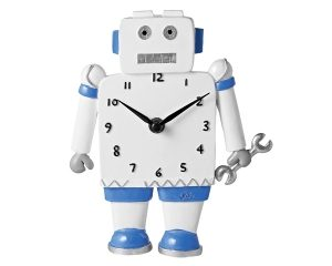 Mila Roboter Wanduhr 18 cm - Kinderuhr