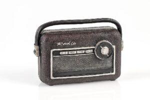 Nostalgie Spardose Retro Radio - Deko Transistorradio 60er Jahre Sparbüchse