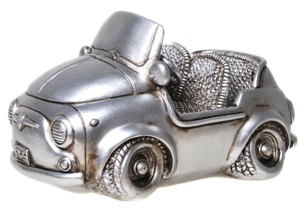 Retro Skulptur Cabrio Spardose Auto antiksilber